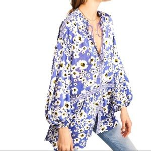 NWT Free People Floral Love Letter Tunic